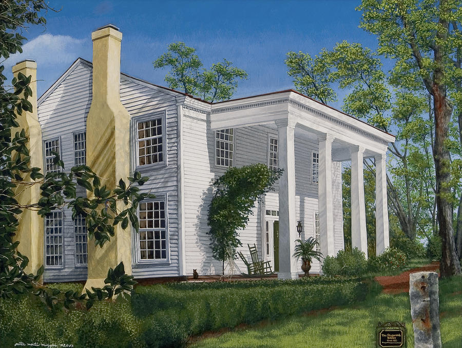Landscape Painting - Stagecoach Inn Madison Georgia by Peter Muzyka