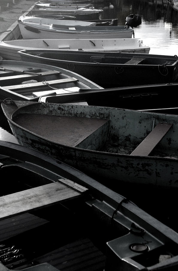 Photographer Photograph - Staggered Boats by Jez C Self