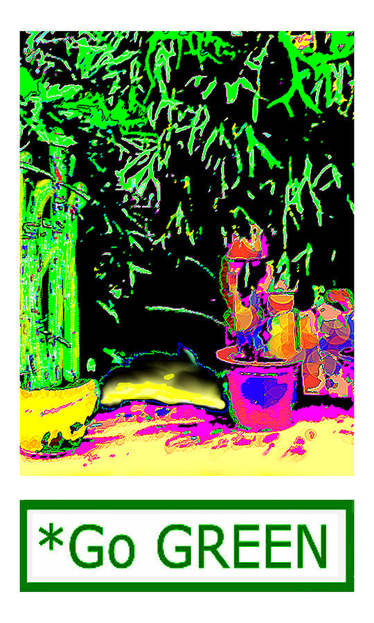 Staghorn Digital Art - Staghorn Fern Go Green Jgibney The Museum Fineartamerica Gifts by jGibney The MUSEUM Artist Series jGibney