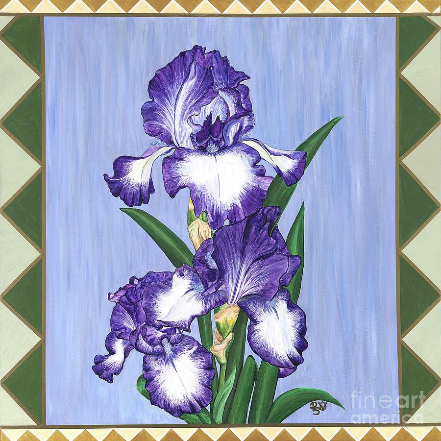Stain glass purple iris painting by patty vicknair iris painting stain glass purple iris by patty vicknair izmirmasajfo