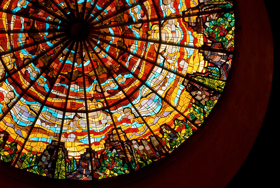 Stained Glass Photograph - Stained Glass Ceiling by Jerry McElroy