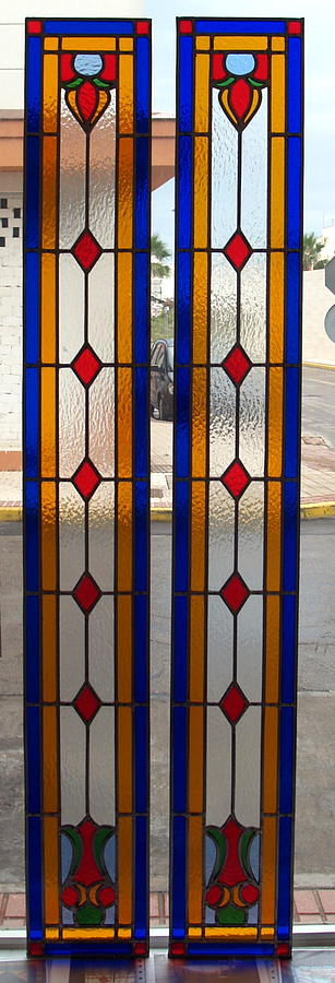 Stained Glass Door Glass Art by Justyna Pastuszka