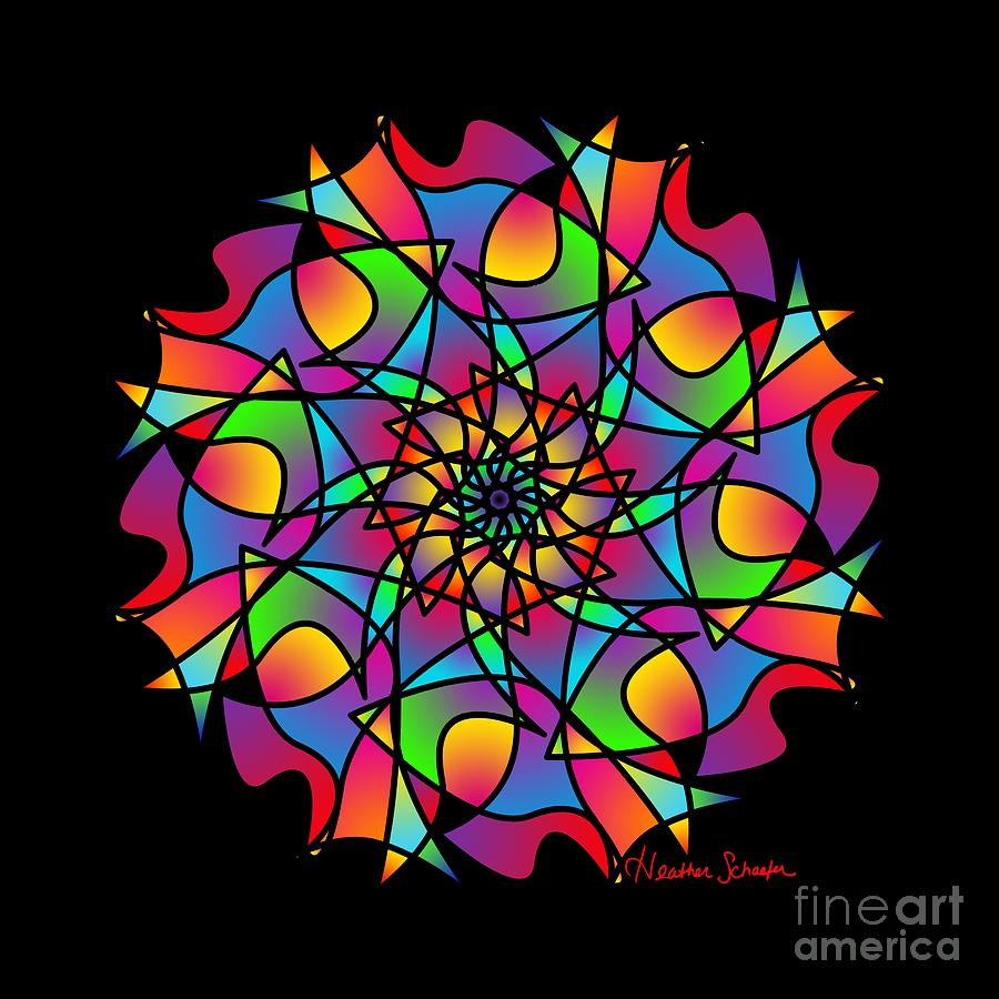 Stained Glass Mandala by Heather Schaefer