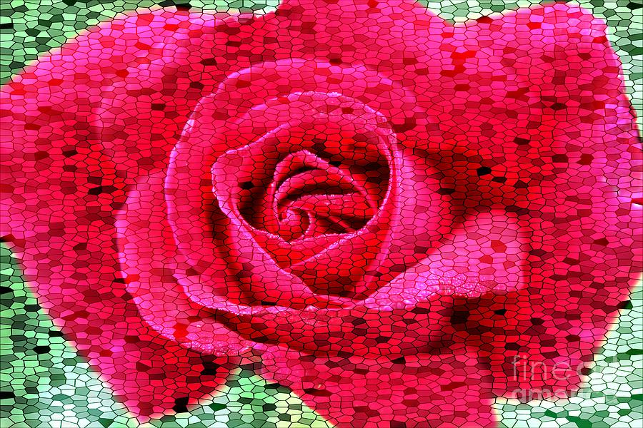 Stained Glass Rose 2 Photograph