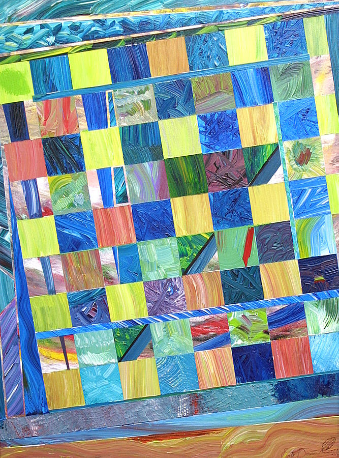 Chess Board Painting - Stained Glass Sanctuary by Eric Devan