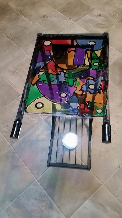 Stained Glass Glass Art - Stained Glass Sofa Table by Steve Semiatin