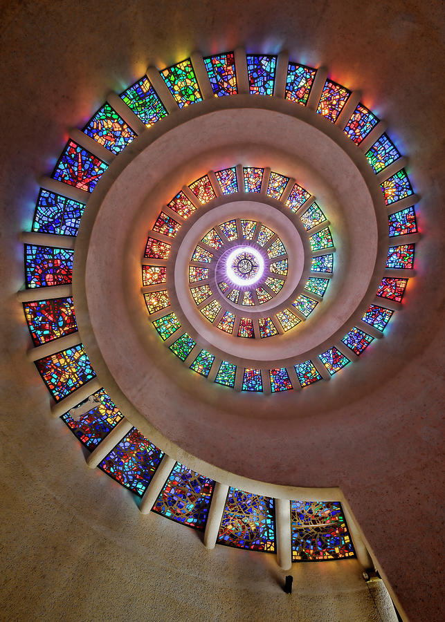 Dallas Photograph - Stained Glass Spiral by Stephen Stookey