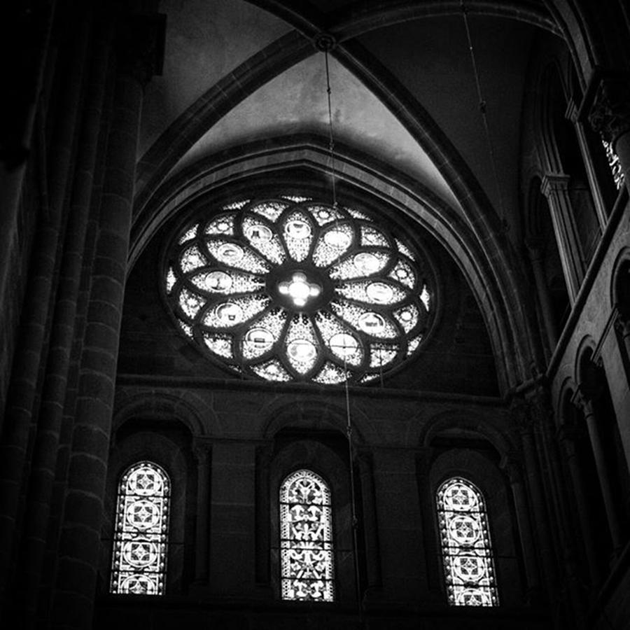 Leica Photograph - Stained Glass, St.peters Cathedral by Aleck Cartwright