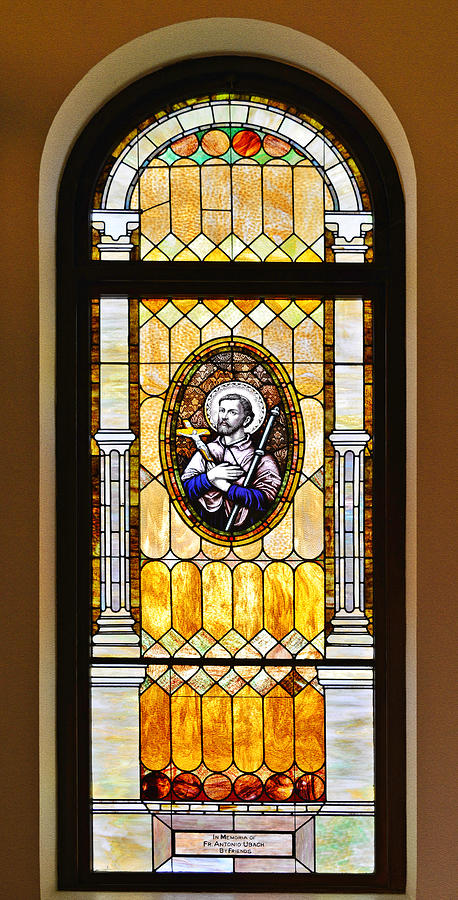 Stained Glass Window Father Antonio Ubach by Christine Till