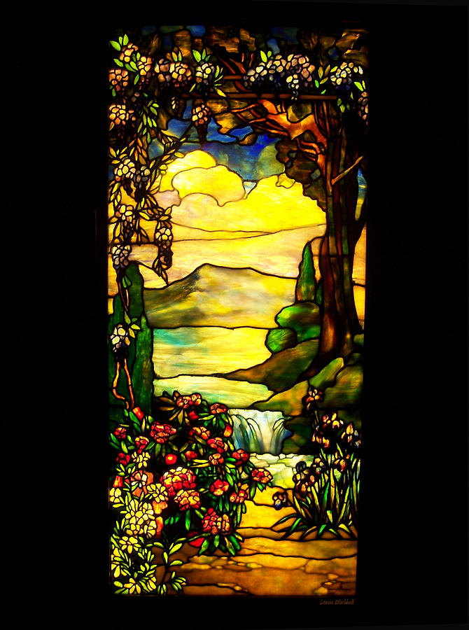Stained Glass Photograph - Stained Landscape by Donna Blackhall