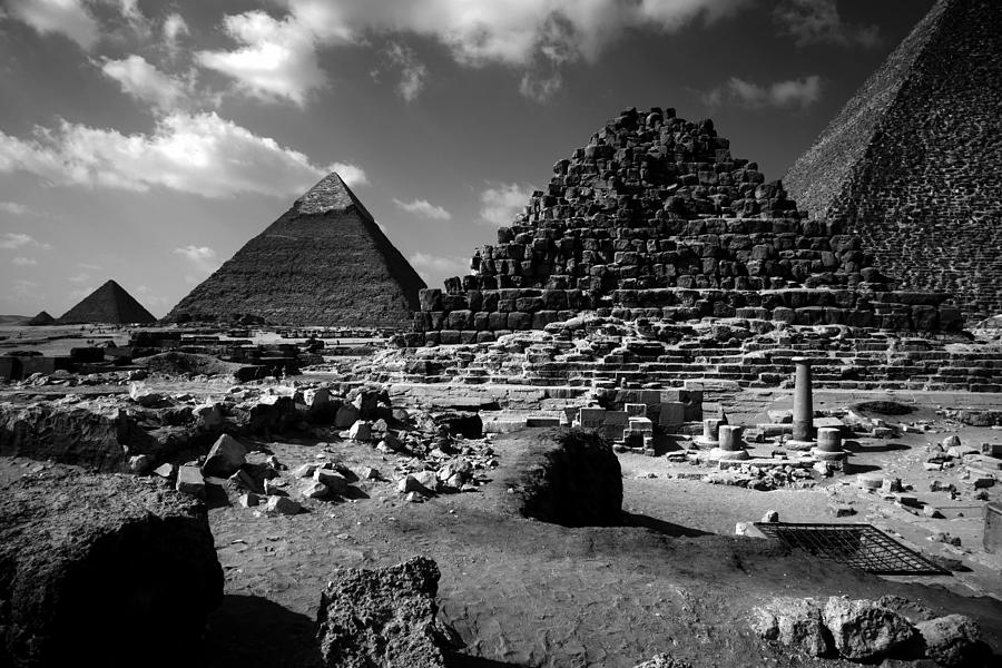 Pyramids Photograph - Stair Stepped Pyramids by Donna Corless