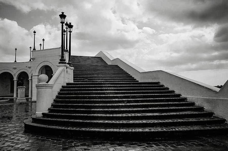 Black And White Photograph   Stair Way To Heaven By Rachel Williams