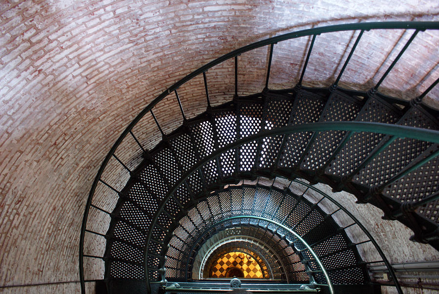 Lighthouse Photograph - Staircase by Patrick  Flynn