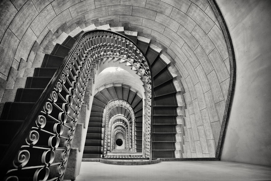 Architectural Elements Photograph - Staircase Perspective by George Oze