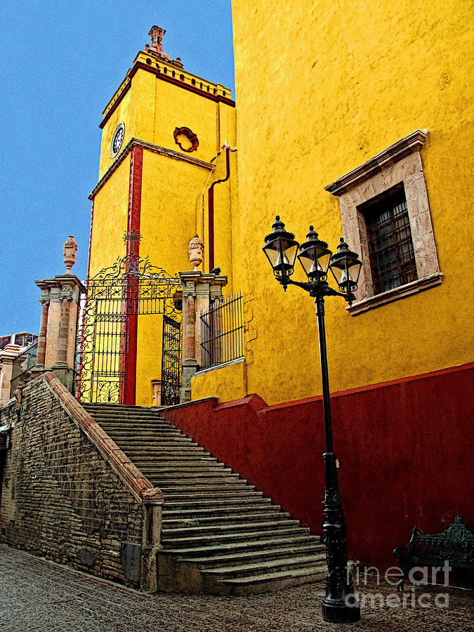 Darian Day Photograph - Staircase With Gate by Mexicolors Art Photography