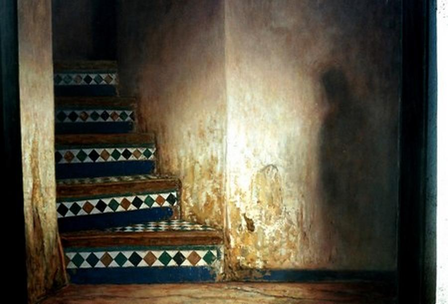 Stairs Painting by Alaoui atlas Hassan