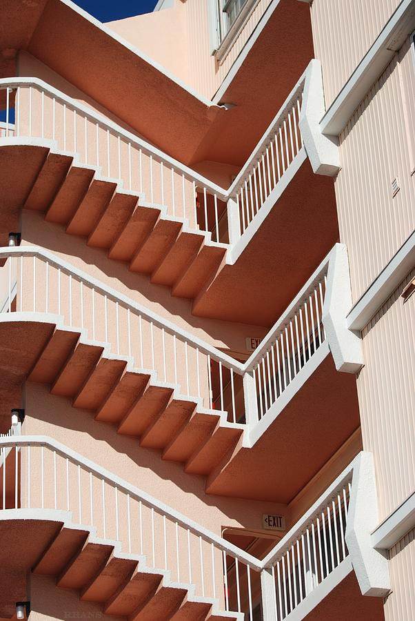 Architecture Photograph - Stairs And Rails by Rob Hans