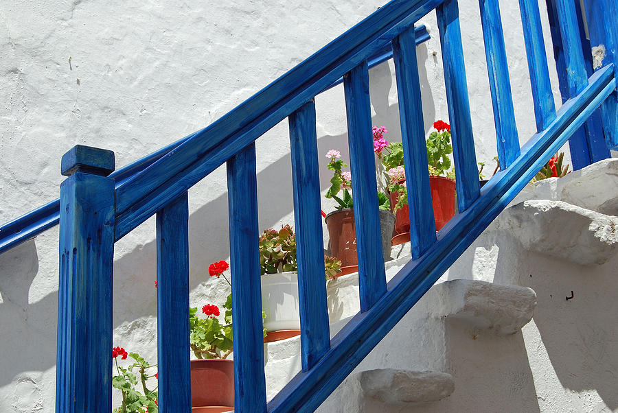 Greece Photograph - Stairs In Mykonos by Armand Hebert