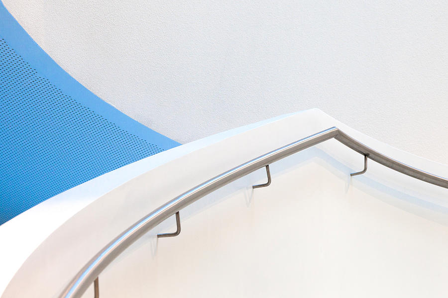Architecture Photograph - Stairs With Blue by Jeroen Van De Wiel