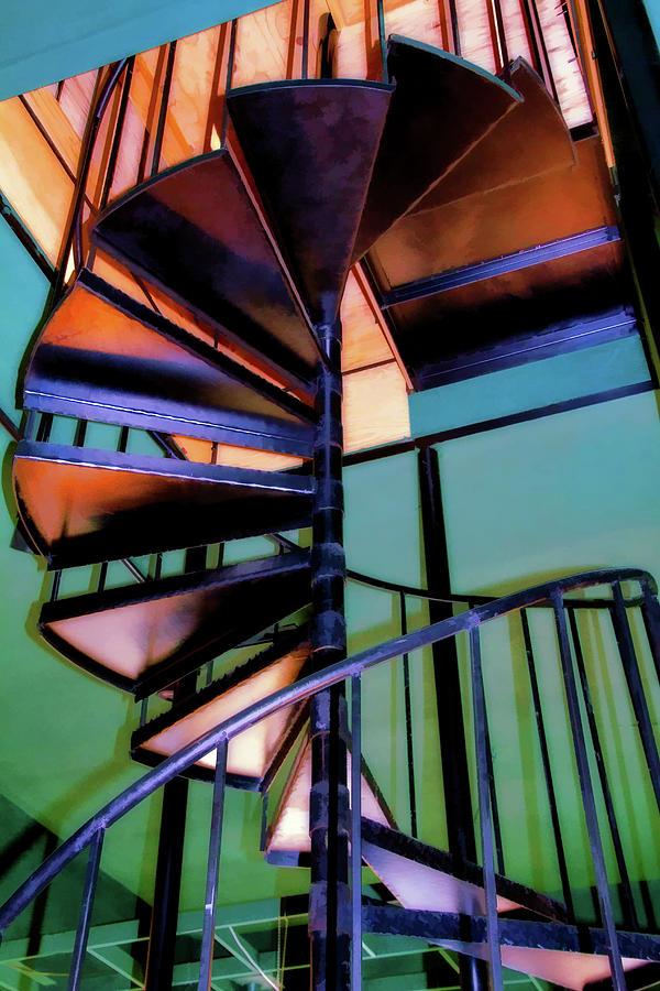 Stairway Digital Art - Stairway Bright by Terry Davis