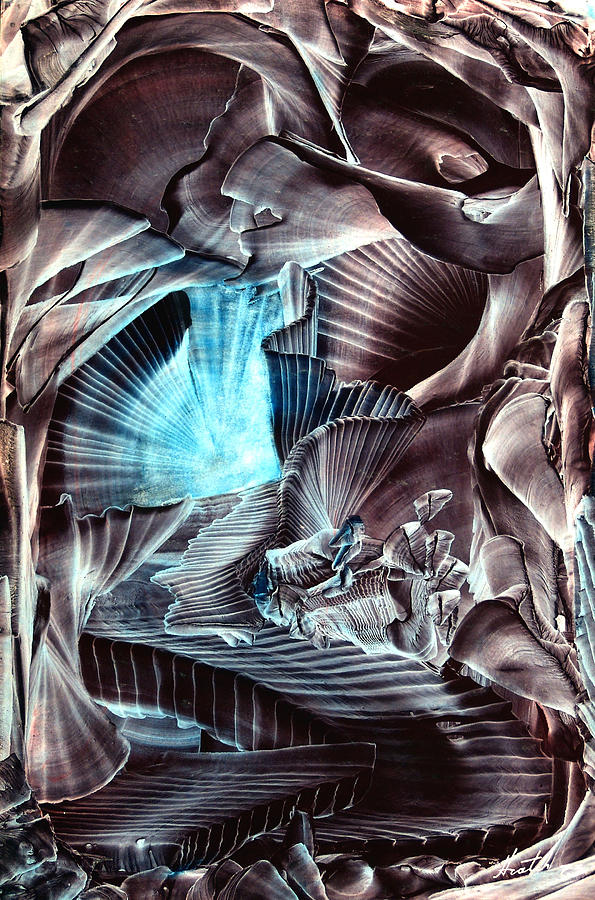 Surrealism Painting - Stairway by Hratch Israelian
