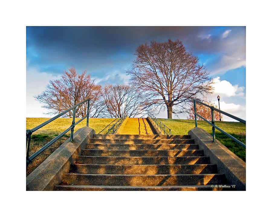 Stairway Photograph - Stairway To Federal Hill by Brian Wallace