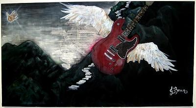 Guitar Painting - Stairway To Heaven by Jessica Brown