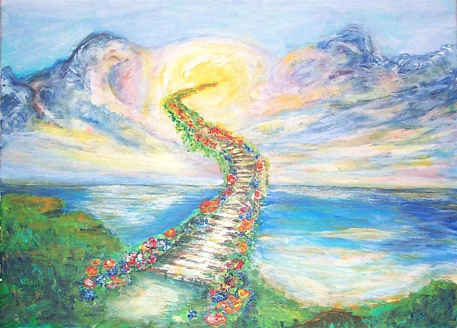 stairway to heaven painting by mary sedici