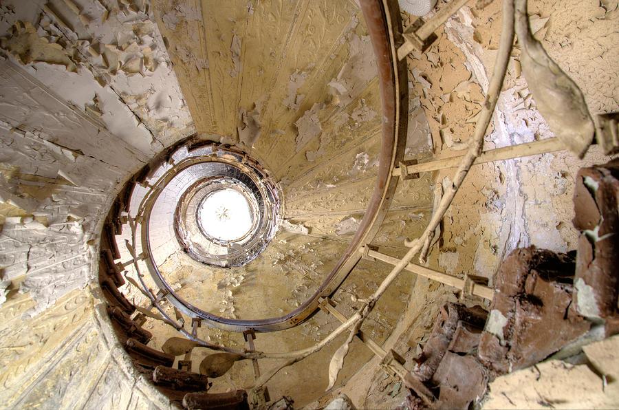 Spiral Stair Photograph - Stairway To......... by Marie Schleich