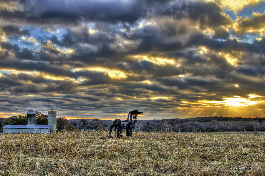 Silos Photograph - Stairways To Heaven Winter Sunrise The Iron Horse Art by Reid Callaway