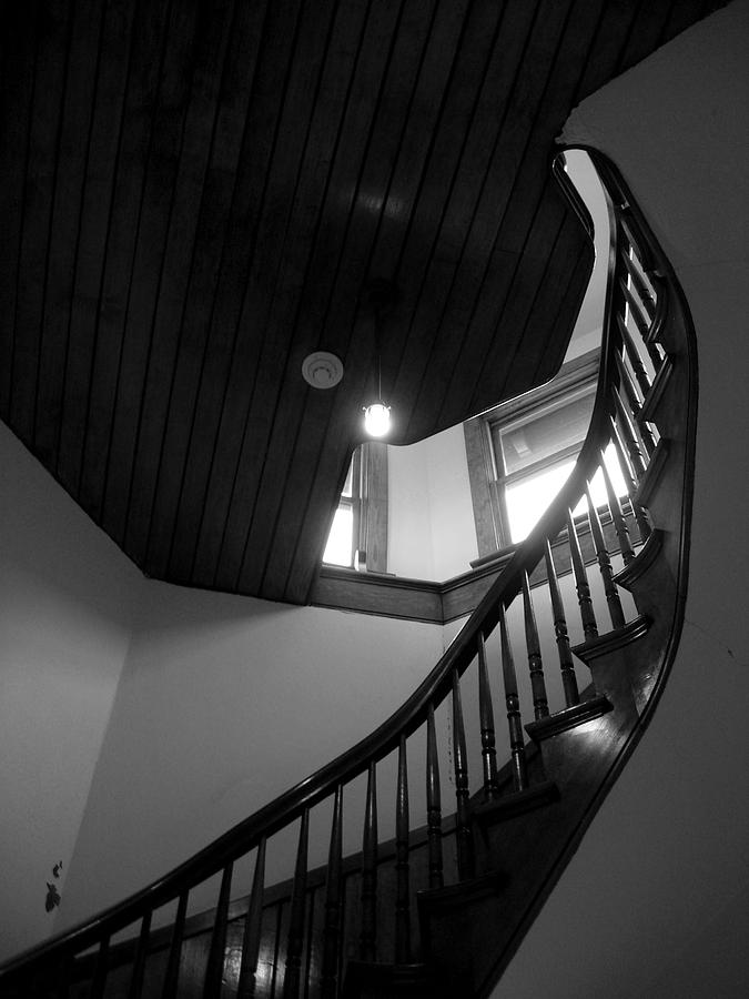 Stairs Photograph - Stairwell To The Studio Crows Nest by Robert Boyette