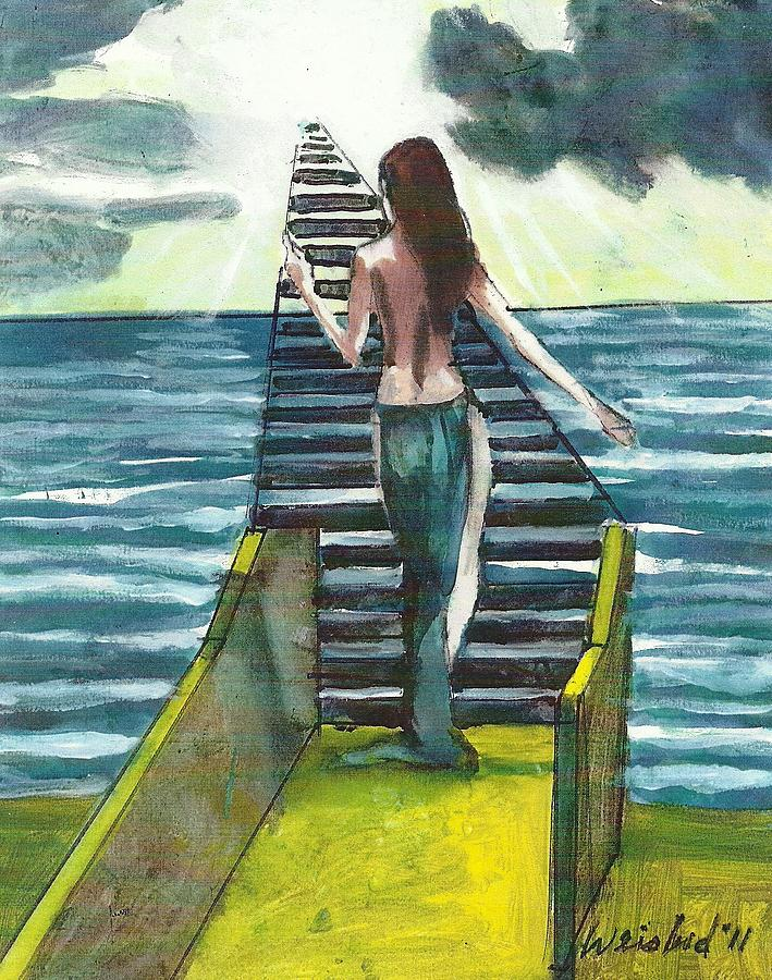 Erotic Painting - STAIRWWAY TO HEAVEN 3D b by Harry  Weisburd