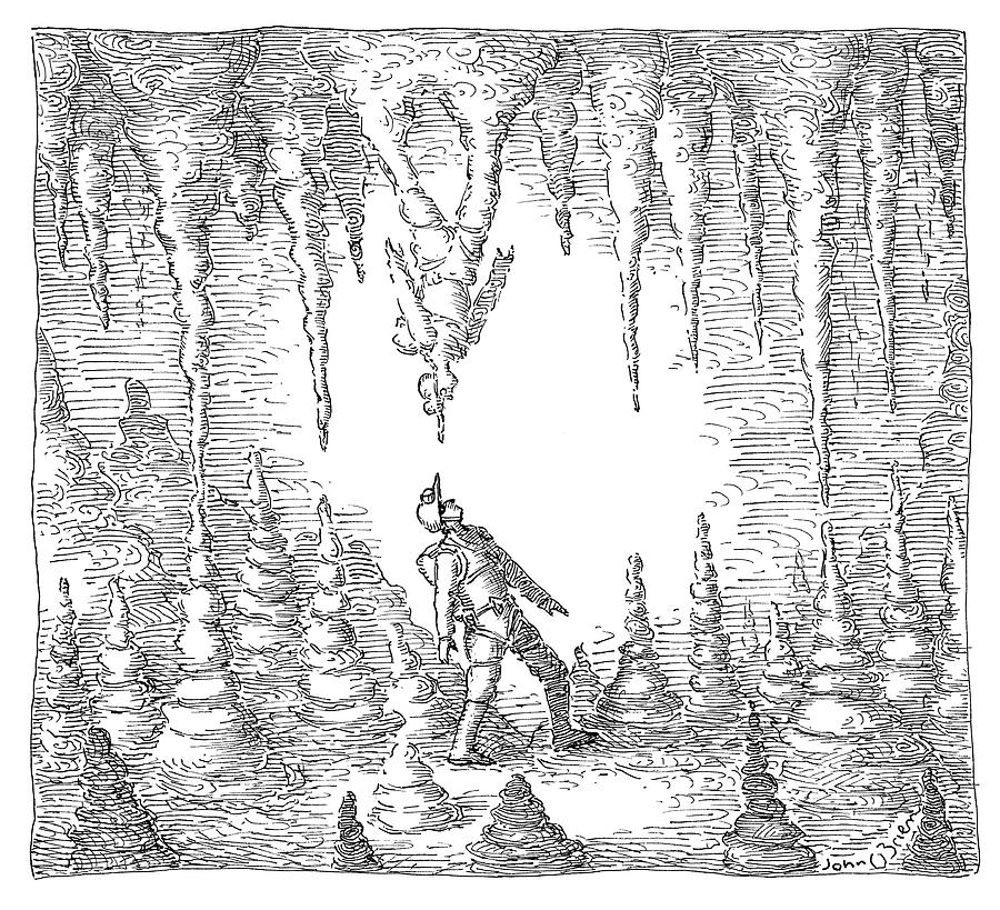 Stalactite Drawing by John OBrien