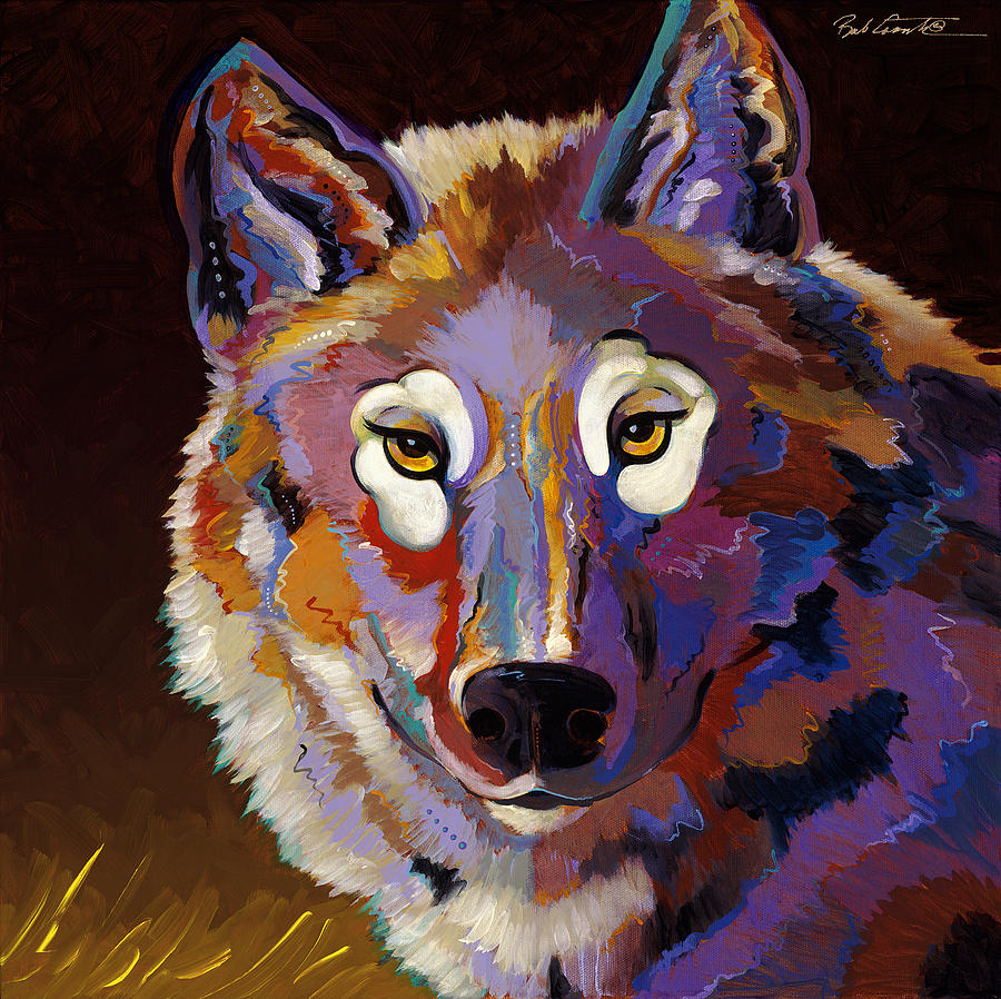Canis Lupus Painting - Stalk by Bob Coonts