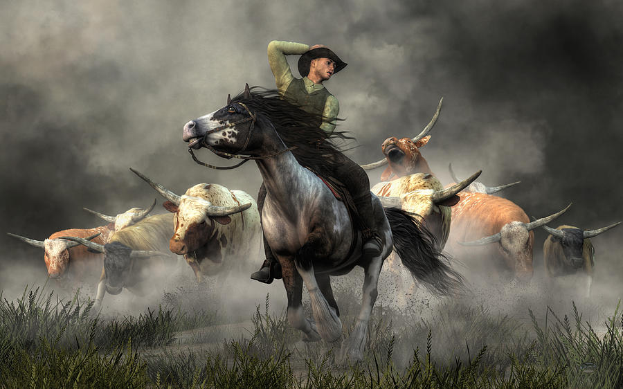 Stampede Digital Art