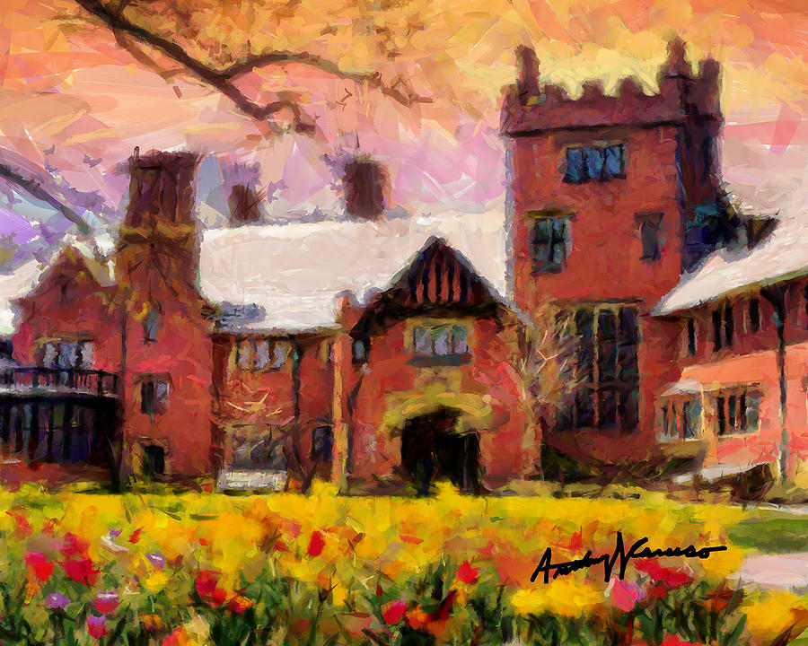 Akron Painting - Stan Hewyt Hall And Gardens by Anthony Caruso