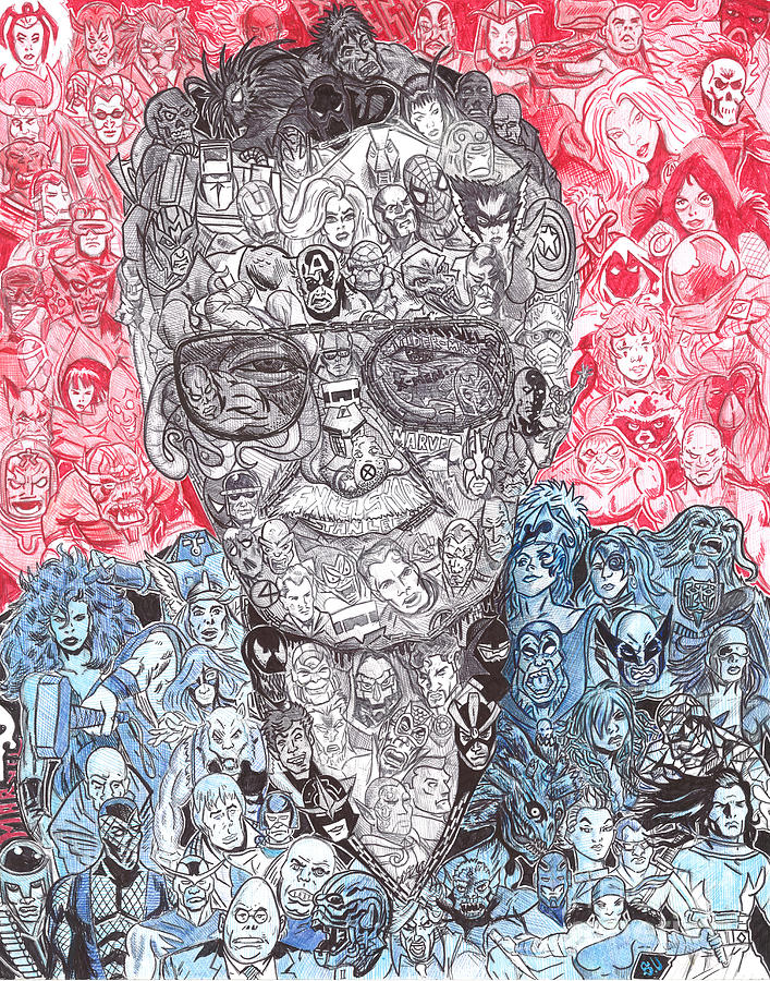 Stan Lee Drawing By Serafin Ureno