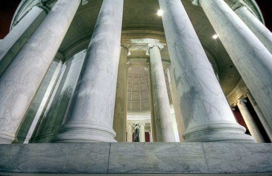 Jefferson Memorial Photograph - Stand Like A Rock by Mitch Cat