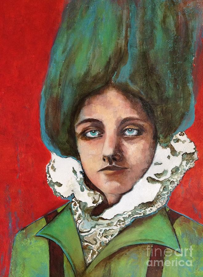Female Portrait Painting - Stand Tall by Pamela Vosseller