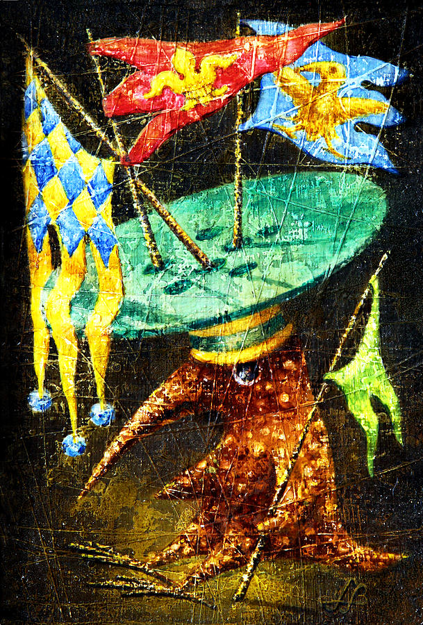 Flag Painting - Standard-bearer by Lolita Bronzini