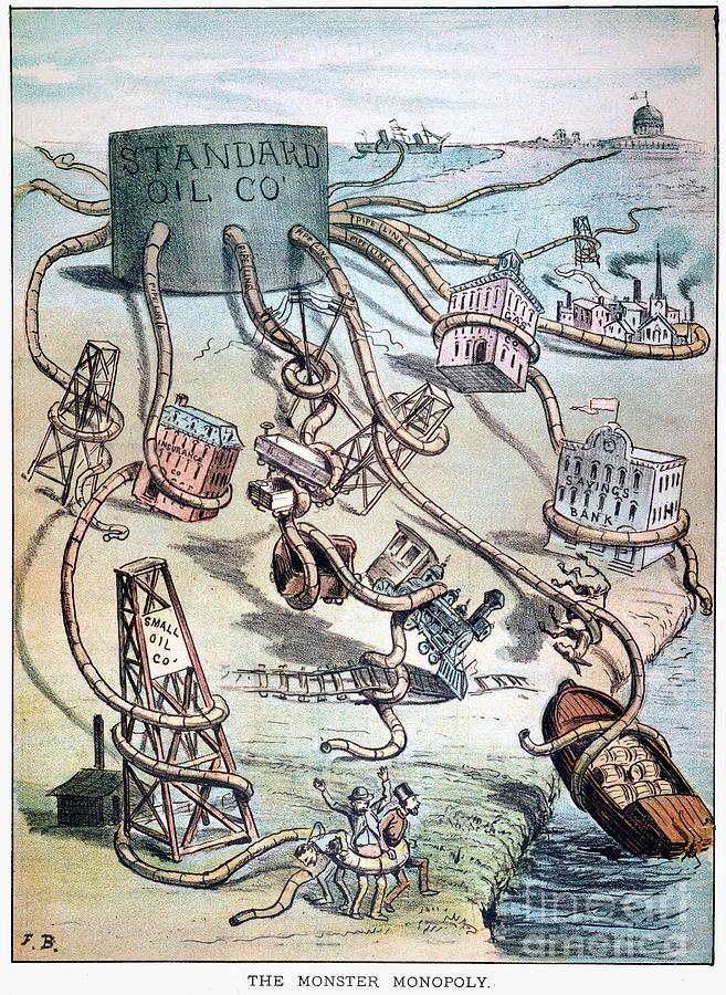 1884 Photograph - Standard Oil Cartoon by Granger