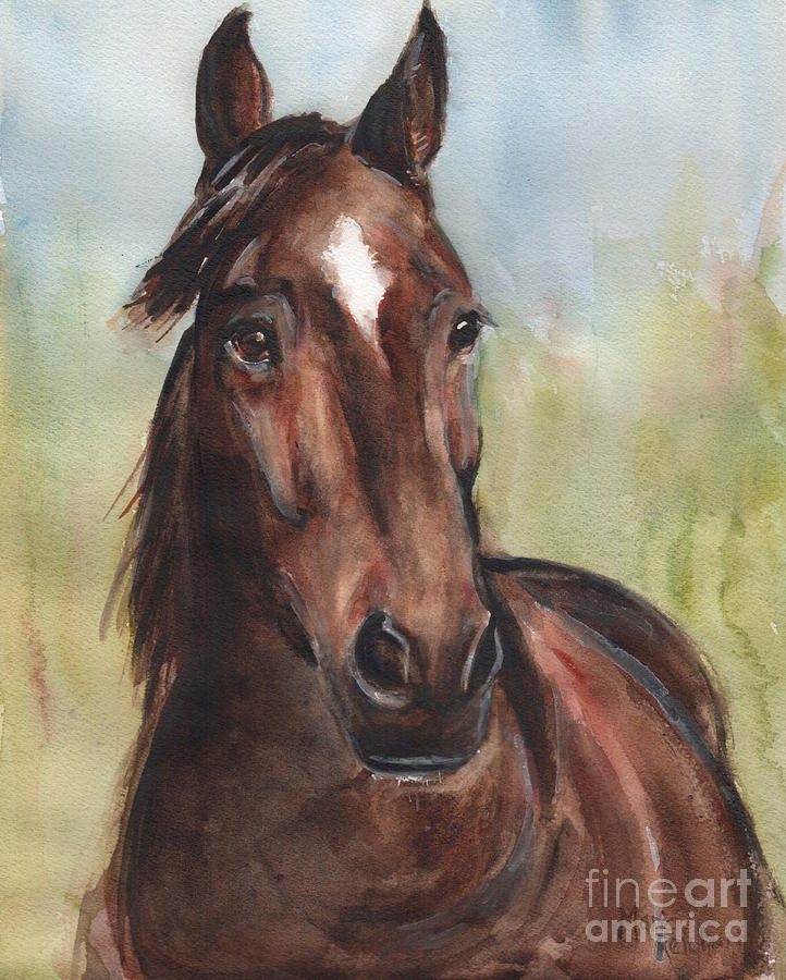How To Paint A Horse Head On Canvas