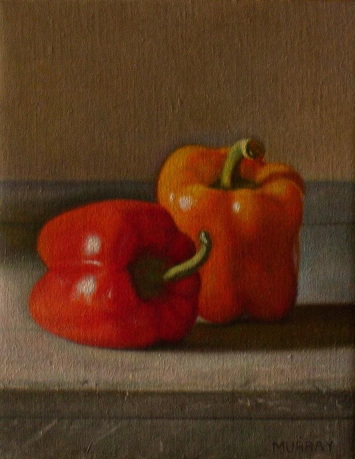 Peppers Painting - Standing and Reclining by Keith Murray