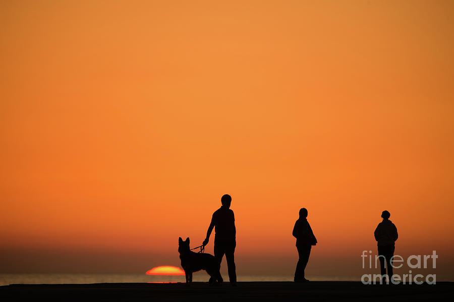 Aberystwyth Photograph - Standing At Sunset by Keith Morris