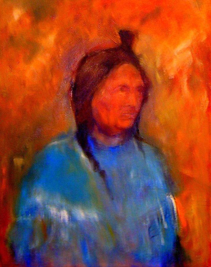 Standing Bear Painting by Johanna Elik
