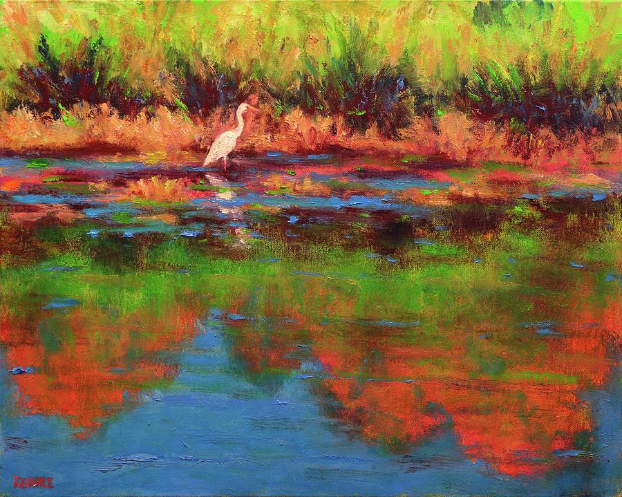 Langan Lake Heron I by Vernon Reinike