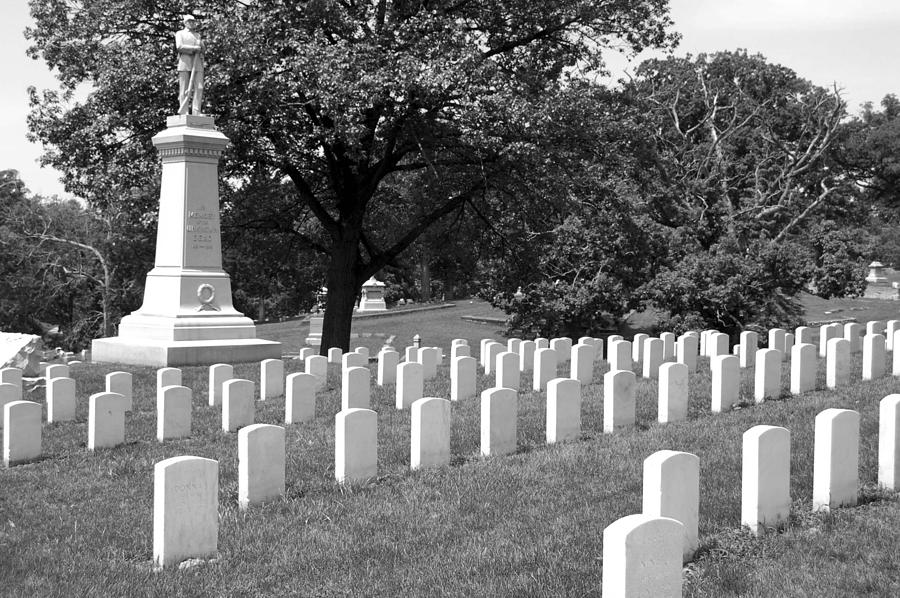 Cemetary Photograph - Standing For Those Who Stood by Jame Hayes