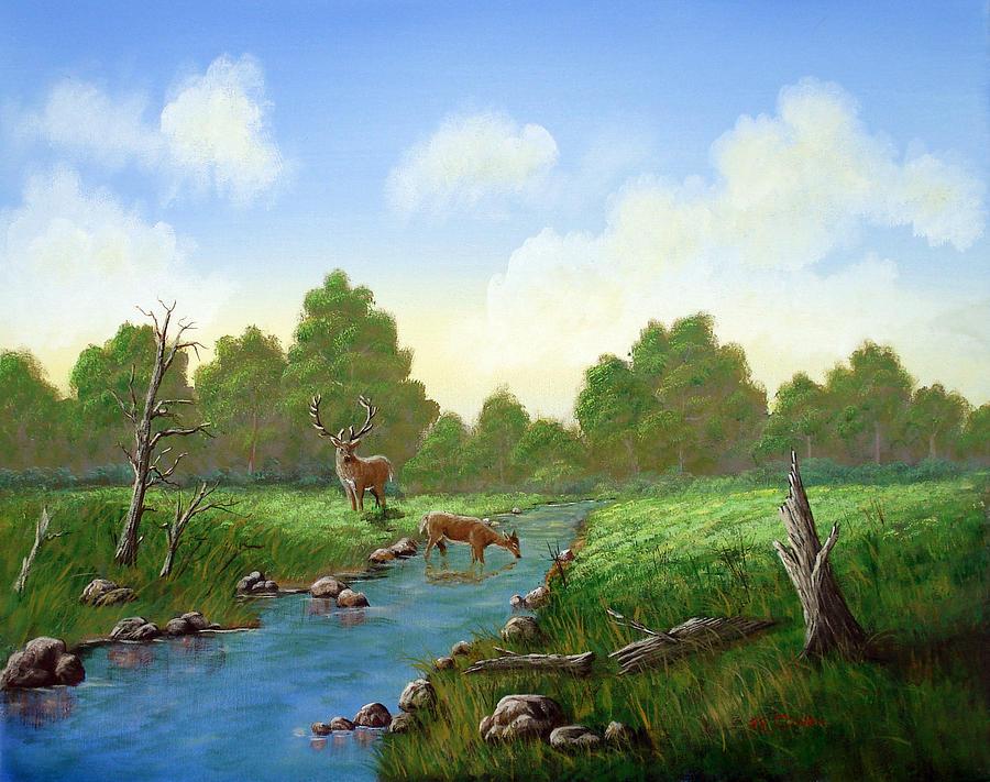 Landscape Painting - Standing Guard by SueEllen Cowan