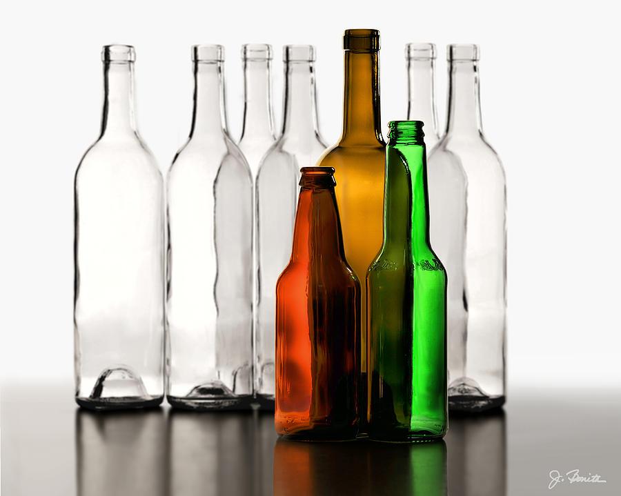 Bottles Photograph - Standing In Front by Joe Bonita