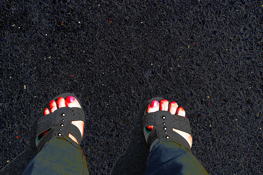 Feet Photograph - Standing In Space by Karol Livote